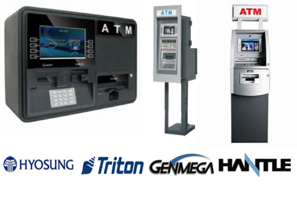 ATM Machines - Hyosung, Triton, Genmega, Hantle