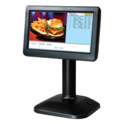 Color Display for Restaurant Cashier Register